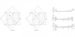 RAVAK - Kaskada Štvrťkruhová sprchová vanička Kaskada, šírka 910 mmx910 mm, rádius 500 mm, biela – vanička, typ PU (A207001120), fotografie 4/3