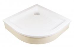 RAVAK - Kaskada Štvrťkruhová sprchová vanička Kaskada, šírka 910 mmx910 mm, rádius 500 mm, biela – vanička, typ PU (A207001120), fotografie 2/3