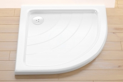 RAVAK - Kaskada Štvrťkruhová sprchová vanička Kaskada, šírka 910 mmx910 mm, rádius 500 mm, biela – vanička, typ PU (A207001120), fotografie 6/3