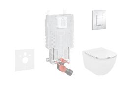 GROHE - Uniset Súprava predstenovej inštalácie, klozetu a dosky Ideal Standard, tlačidla Skate Cosmo, Aquablade, SoftClose, chróm (38643SET-KU)