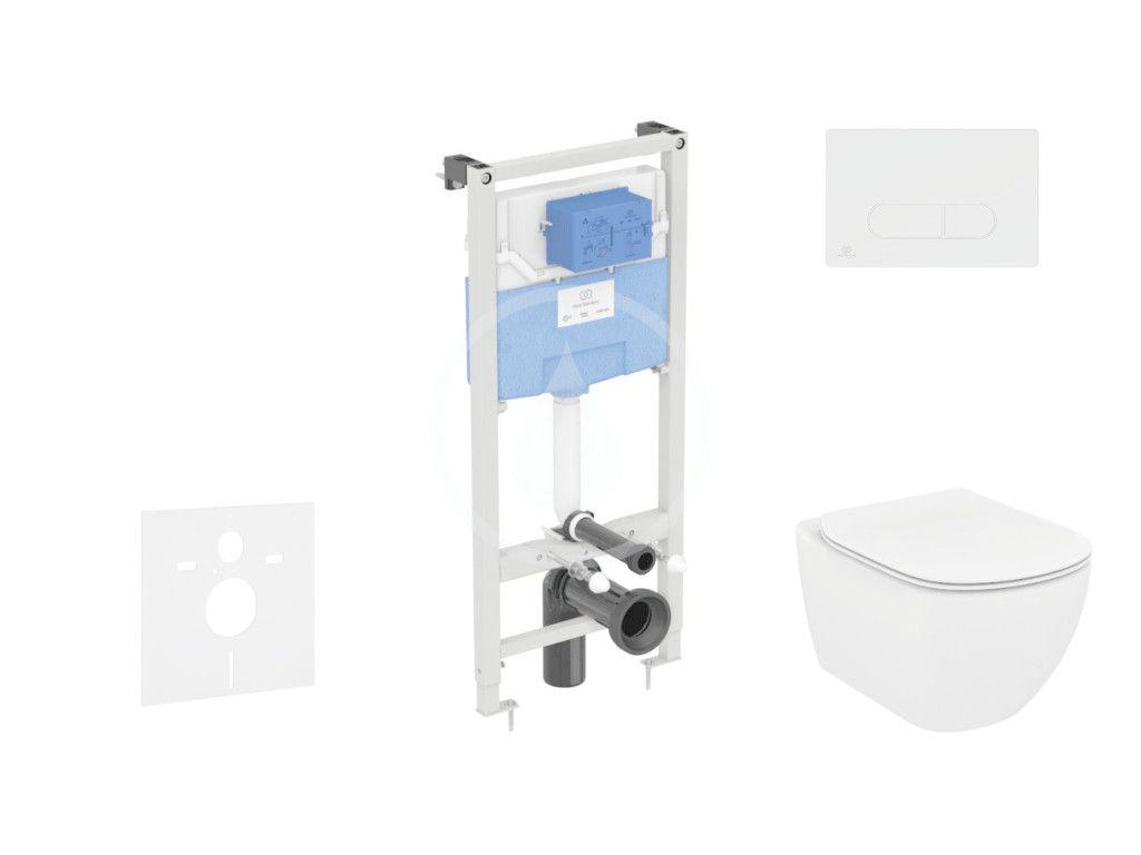 IDEAL STANDARD - ProSys Set predstenovej inštalácie, klozetu a sedadla Tesi, tlačidla Oleas M1, Rimless, SoftClose, biela ProSys120M SP10