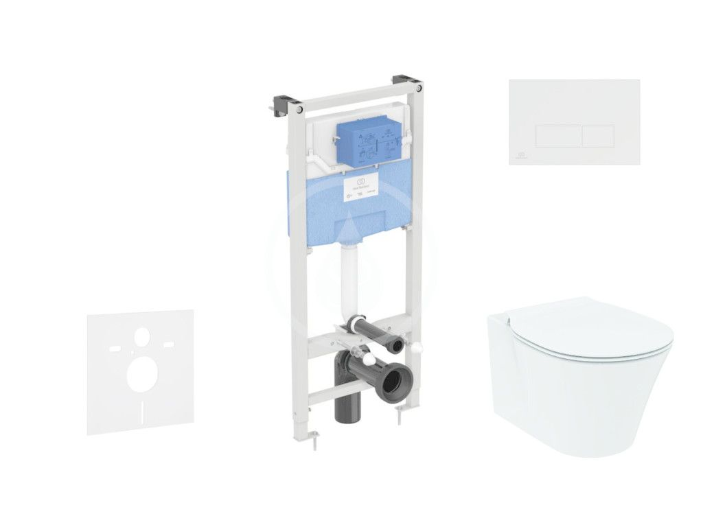 IDEAL STANDARD - ProSys Set predstenovej inštalácie, klozetu a sedadla Connect Air, tlačidla Oleas M2, Aquablade, SoftClose, chróm ProSys120M SP21