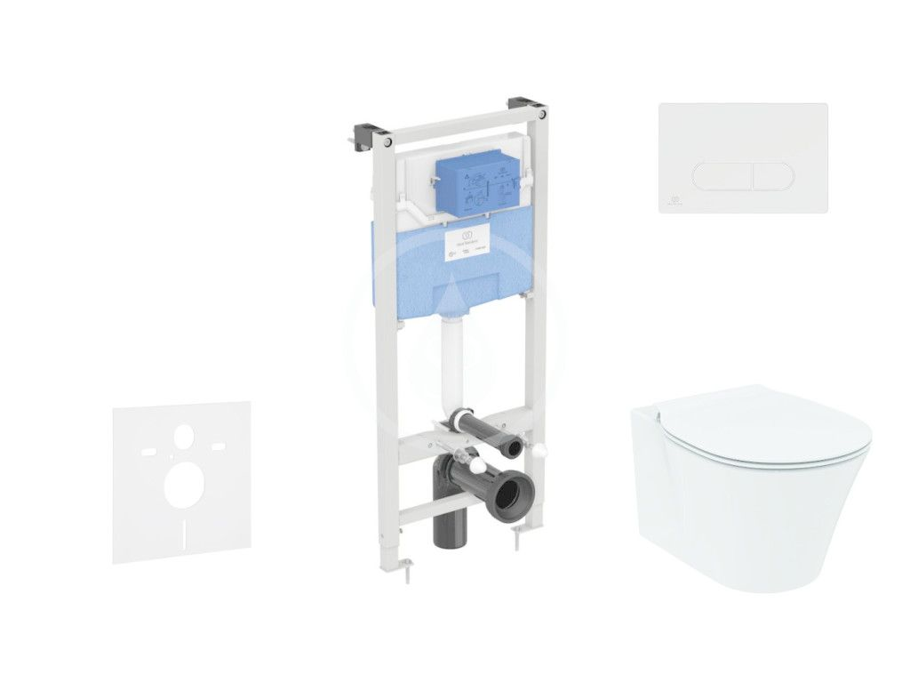 IDEAL STANDARD - ProSys Set predstenovej inštalácie, klozetu a sedadla Connect Air, tlačidla Oleas M1, Aquablade, SoftClose, biela ProSys120M SP22