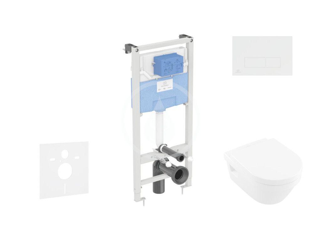IDEAL STANDARD - ProSys Set predstenovej inštalácie, klozetu a sedadla Architectura, tlačidla Oleas M2, DirectFlush, SoftClose, CeramicPlus, biela ProSys120M SP43