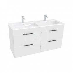 JIKA - Cube Skrinka so 4 zásuvkami, 1200x430 mm – farba biela/antibakteriálna (H4536621763001)