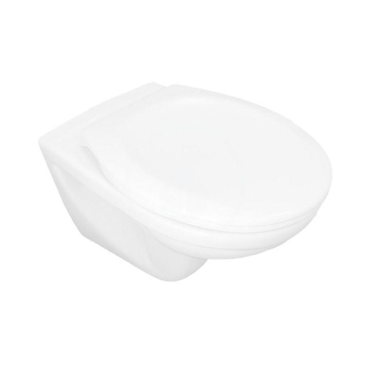 JIKA - Dino Závesné WC so sedadlom SoftClose, Rimless, Dual Flush, biela H8603770000001