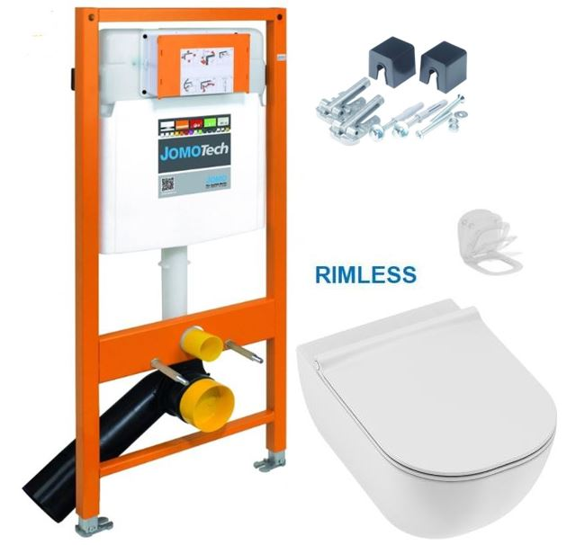 JOMO DUO modul pro závěsné WC bez desky + WC JIKA MIO + SEDÁTKO SLIM Slowclose (174-91100700-00 IO2)
