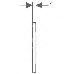 GEBERIT - Omega30 Ovládacie tlačidlo OMEGA30, chróm mat/chróm (115.080.KN.1), fotografie 4/3