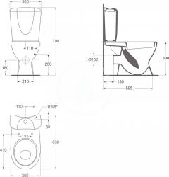 IDEAL STANDARD - Eurovit WC sedadlo, biela (W300201), fotografie 2/2