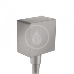 HANSGROHE - Fixfit Prípojka hadice Square so spätným ventilom, kefovaný čierny chróm (26455340)