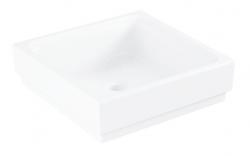 GROHE - Cube Ceramic Umývadlo bez prepadu, 400mm x 400 mm, PureGuard, alpská biela (3948200H)