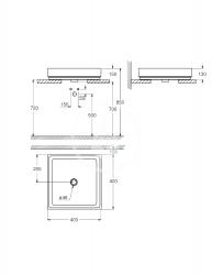 GROHE - Cube Ceramic Umývadlo bez prepadu, 400mm x 400 mm, PureGuard, alpská biela (3948200H), fotografie 4/2