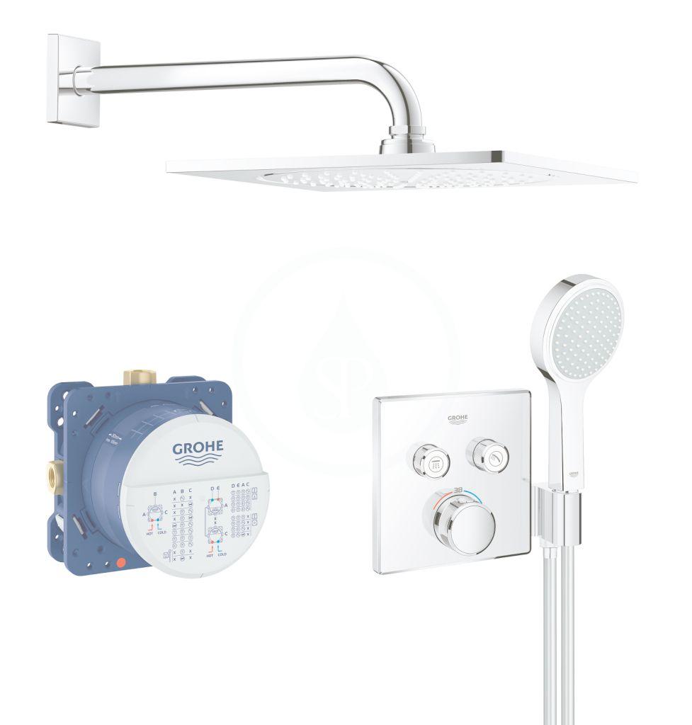 GROHE - Grohtherm SmartControl Sprchová súprava Perfect s podomietkovým termostatom, 254 mm, chróm 34742000
