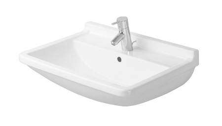 DURAVIT - Starck 3 Jednootvorové umývadlo s prepadom, 650mmx485mm, biele (0300650000)