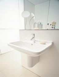 DURAVIT - Starck 3 Jednootvorové umývadlo s prepadom, 650mmx485mm, biele (0300650000), fotografie 6/3