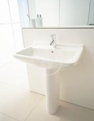 DURAVIT - Starck 3 Jednootvorové umývadlo s prepadom, 650mmx485mm, biele (0300650000), fotografie 2/3