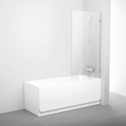 RAVAK - Brilliant Vaňová zástena pevná jednodielna BVS1, 800 mmx1500 mm, farba chróm, sklo transparent (7U840A00Z1)