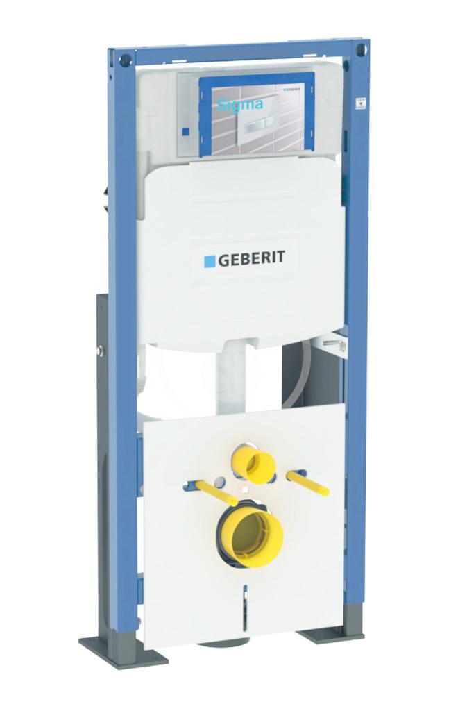 GEBERIT - Duofix Montážní prvek pro závěsné WC, 112 cm, se splachovací nádržkou pod omítku Sigma 12 cm, samostatně stojící (111.380.00.5)