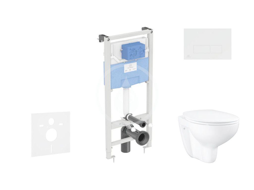 IDEAL STANDARD - ProSys Set predstenovej inštalácie, klozetu a sedadla Bau Ceramic, tlačidla Oleas M2, Rimless, SoftClose, chróm mat ProSys120M SP62