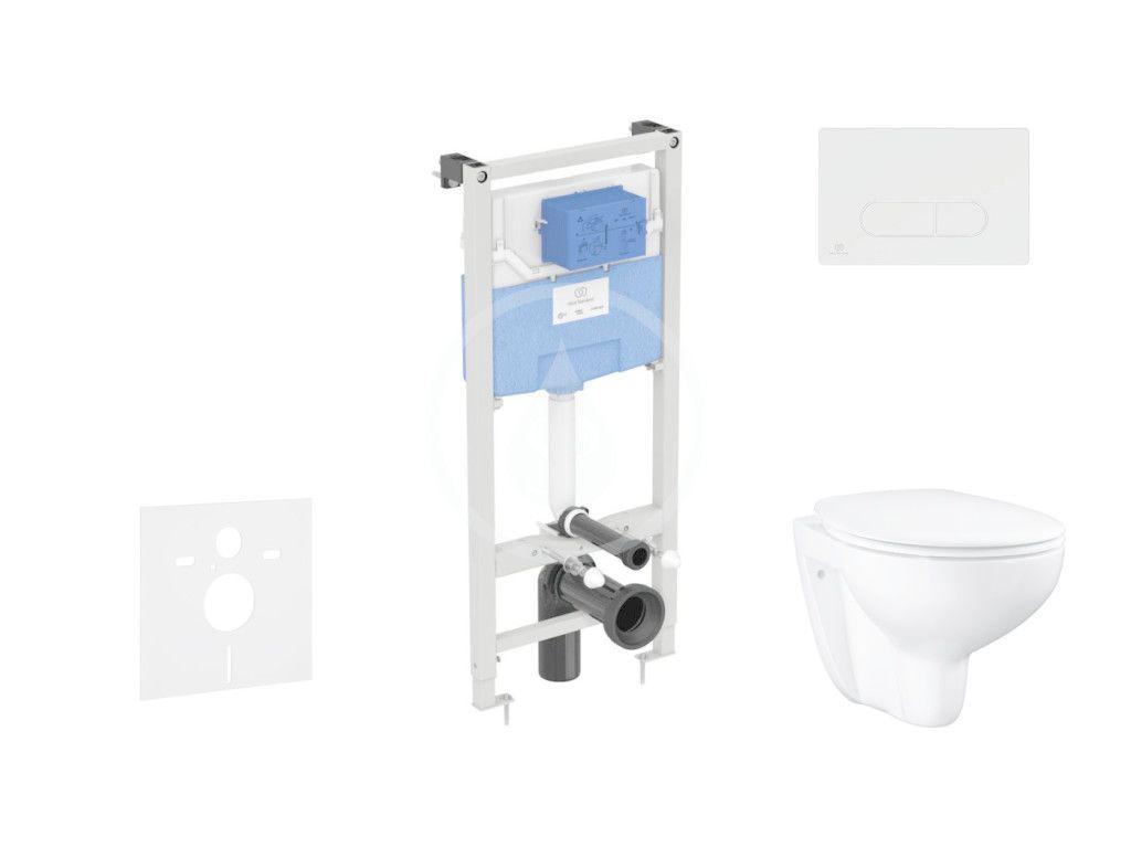IDEAL STANDARD - ProSys Set predstenovej inštalácie, klozetu a sedadla Bau Ceramic, tlačidla Oleas M1, Rimless, SoftClose, chróm mat ProSys120M SP65