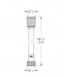 GROHE - Hadice Sprchová hadica Relexaflex, 2000 mm, chróm (28155001), fotografie 2/1