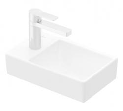 VILLEROY & BOCH - Avento Umývadielko 360x220 mm, bez prepadu, 1 otvor na batériu vľavo, alpská biela (43003R01)