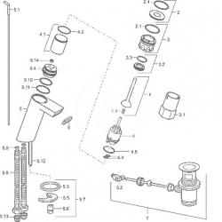 HANSA - Stela Páková umývadlová batéria s odtokovou súpravou, chróm (57092201), fotografie 2/2