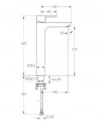 HANSA - Ligna Páková umývadlová batéria, chróm (06032203), fotografie 2/1
