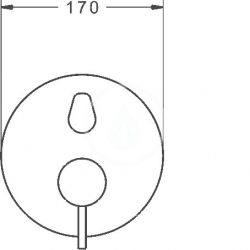 HANSA - Stela Vaňová batéria pod omietku, s prepínačom na 2 výstupy, chróm (87849041), fotografie 2/2