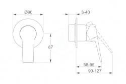 HANSA - Twist Sprchová batéria pod omietku, chróm (49777003), fotografie 2/2