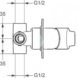HANSA - Twist Sprchová batéria pod omietku, chróm (49777003), fotografie 4/2