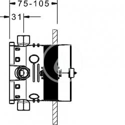 HANSA - Bluebox Montážne teleso na batériu pod omietku DN15 (80000000), fotografie 2/3