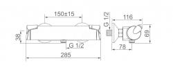 HANSA - Fit Termostatická sprchová batéria, chróm (65140101), fotografie 4/2