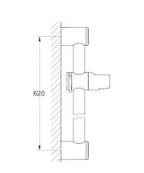 GROHE - Relexa Sprchová tyč, 600 mm, chróm (28620000), fotografie 2/1
