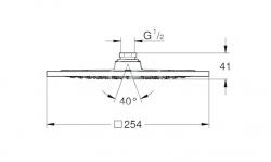 """GROHE - Rainshower F Hlavová sprcha F-SERIES 10"""", 254x254 mm, chróm (27285000), fotografie 2/2"""