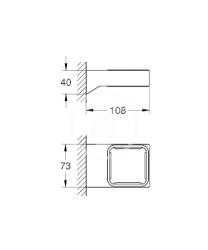 GROHE - Selection Cube Držiak pohára/misky na mydlo, chróm (40865000), fotografie 2/1