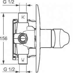 HANSA - Mix Vaňová batéria pod omietku, chróm (01849183), fotografie 4/3
