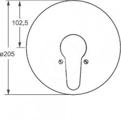 HANSA - Mix Vaňová batéria pod omietku, chróm (01849183), fotografie 2/3