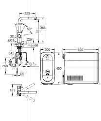 GROHE - Blue Home Páková drezová batéria s filtračnou funkciou a chladiacim zariadením, chróm (31539000), fotografie 16/10