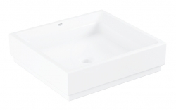 GROHE - Cube Ceramic Umývadlo bez prepadu, 500mm x 470 mm, PureGuard, alpská biela (3948100H)