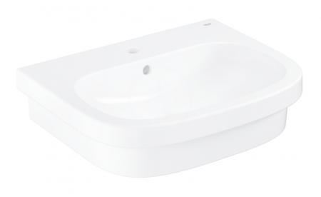GROHE - Euro Ceramic Umývadlo s prepadom, 600mm x 480 mm, PureGuard, alpská biela (3933700H)