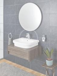 GROHE - Euro Ceramic Umývadlo s prepadom, 600mm x 480 mm, PureGuard, alpská biela (3933700H), fotografie 2/3