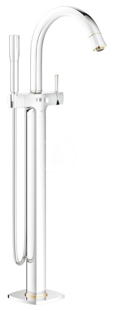 GROHE - Grandera Vanová baterie na podlahu, chrom/zlato (23318IG0)