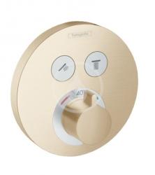 HANSGROHE - Shower Select Termostatická batéria pod omietku na 2 spotrebiče, kefovaný bronz (15743140)