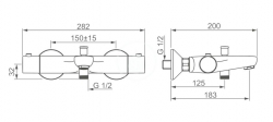HANSA - Unita Termostatická vaňová batéria, chróm (58372101), fotografie 4/2