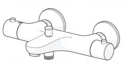 HANSA - Unita Termostatická vaňová batéria, chróm (58372101), fotografie 2/2