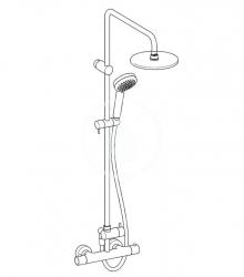 HANSA - Unita Sprchový set 200 s termostatom, 3 prúdy, 2 výstupy, chróm (58149103), fotografie 2/2