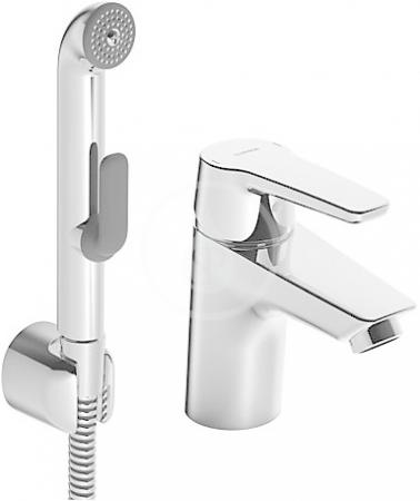 HANSA - Polo Páková umývadlová batéria s funkčnou sprchou, chróm (51462293)