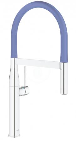 GROHE - Essence Drezová batéria s flexibilným ramenom, chróm/modrá (124979)