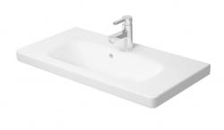 DURAVIT - DuraStyle Umývadlo nábytkové Compact, 785x400 mm, s 1 otvorom na batériu, s WonderGliss, alpská biela (23377800001)